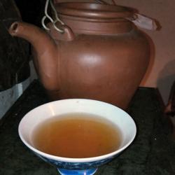 Lapacho Tee auf dem Ofen